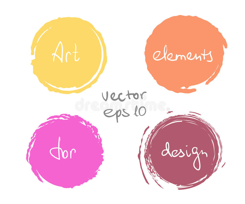 Circle paint drop set stock illustration