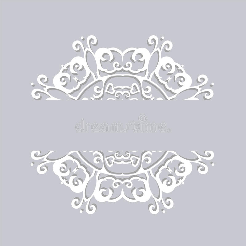 The Circle of paper lace with shadow stock photo