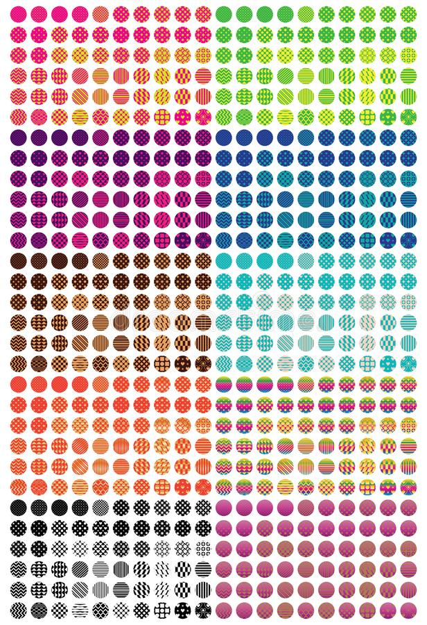 Circle pattern cut colorful set. This illustration is design circle pattern cut colorful in isolated set on white color background vector illustration