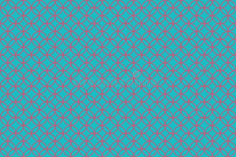 Circle patterns background stock illustration