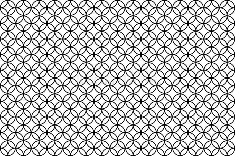 Overlapping circle patterns on white background vector illustration