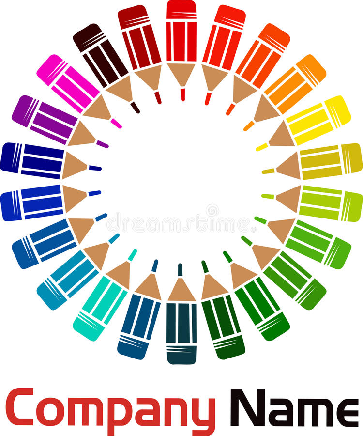 Download Circle pencils stock vector. Illustration of coloring - 20882119