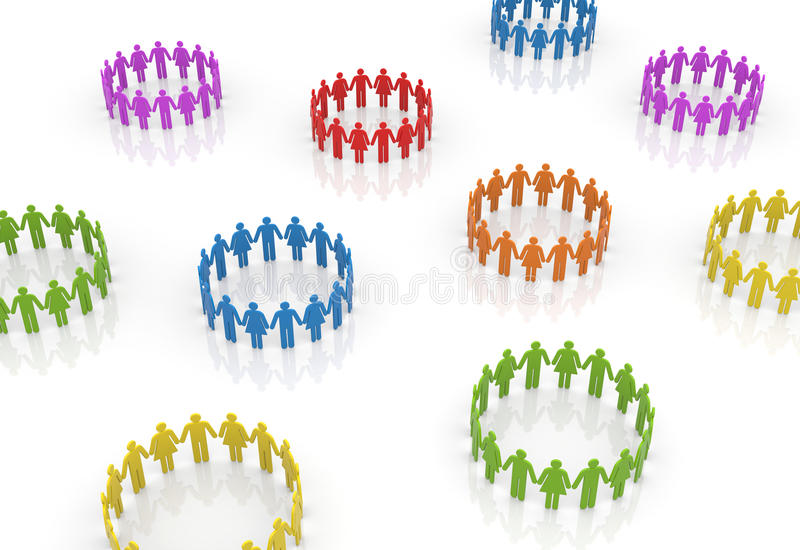 Circle Of People Royalty Free Stock Photography