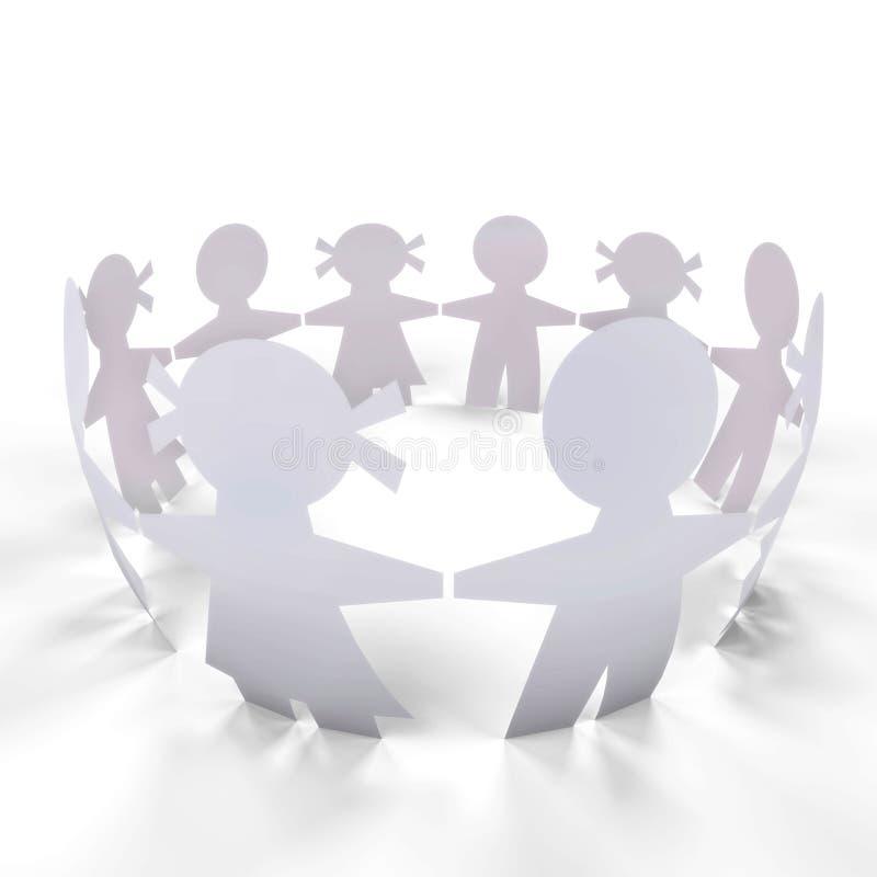 Download Circle people stock illustration. Illustration of paper - 26795535