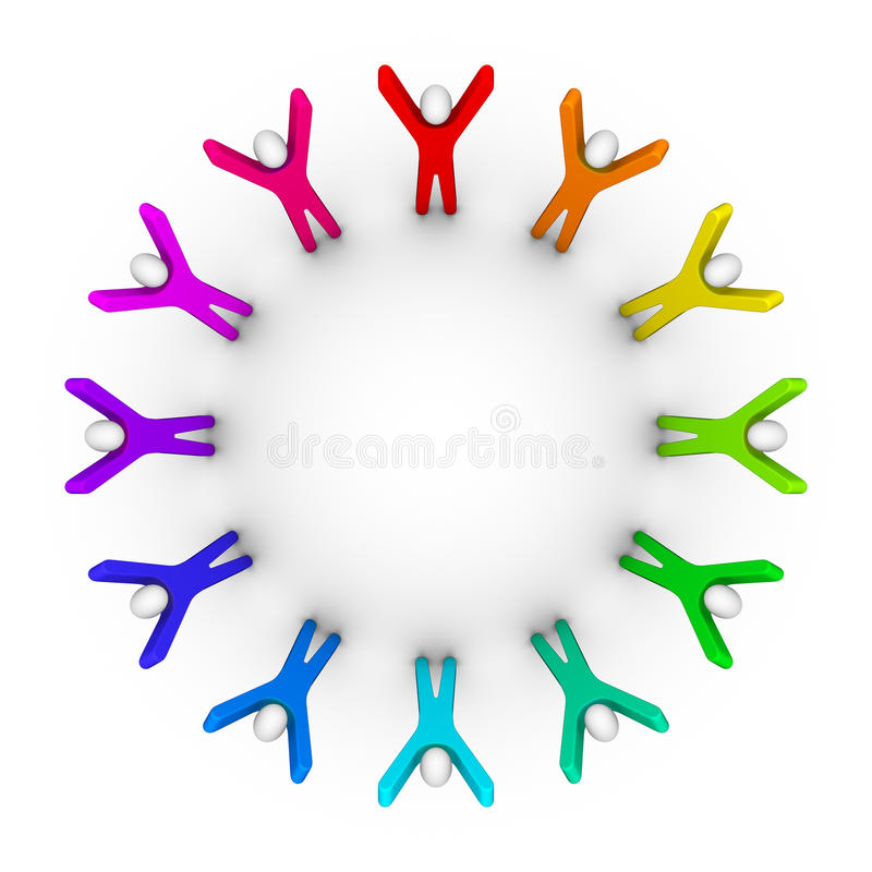 Circle Of Peoples Stock Image