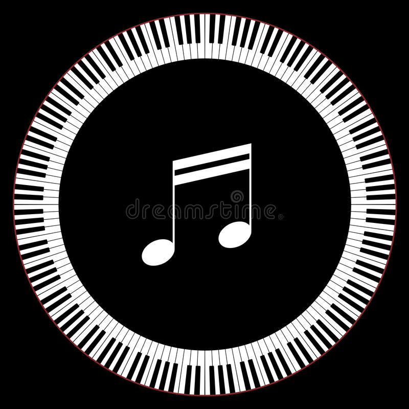 Circle of Piano Keys royalty free illustration