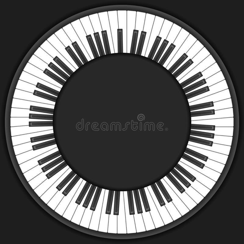 Circle piano keys background royalty free illustration