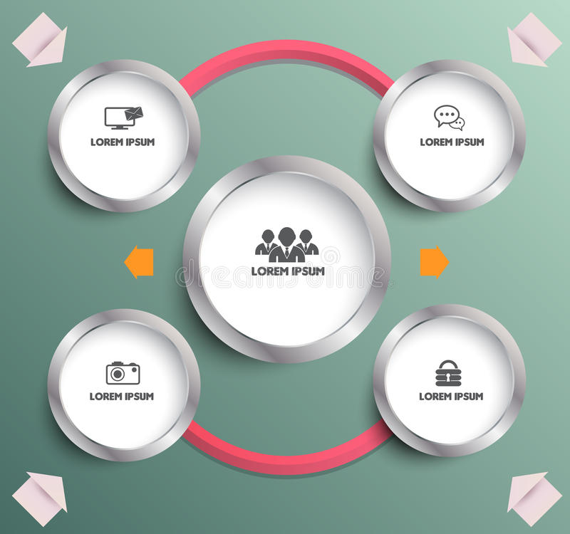 Circle planing with icons. Can use for brochure and business project background vector illustration