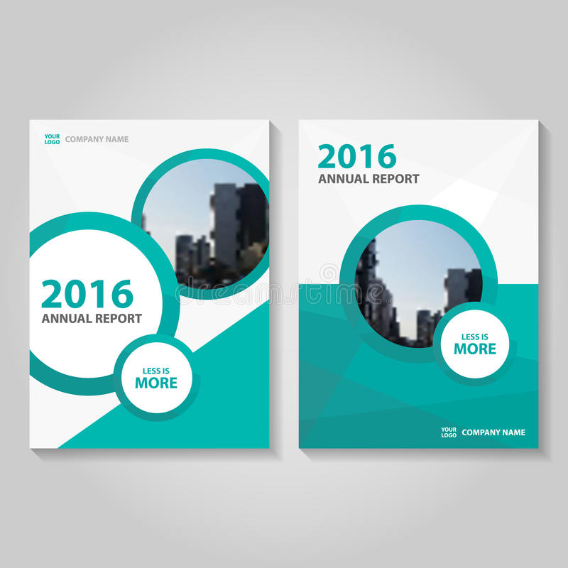 Circle Polygon Green Blue Annual Report Leaflet Brochure Flyer