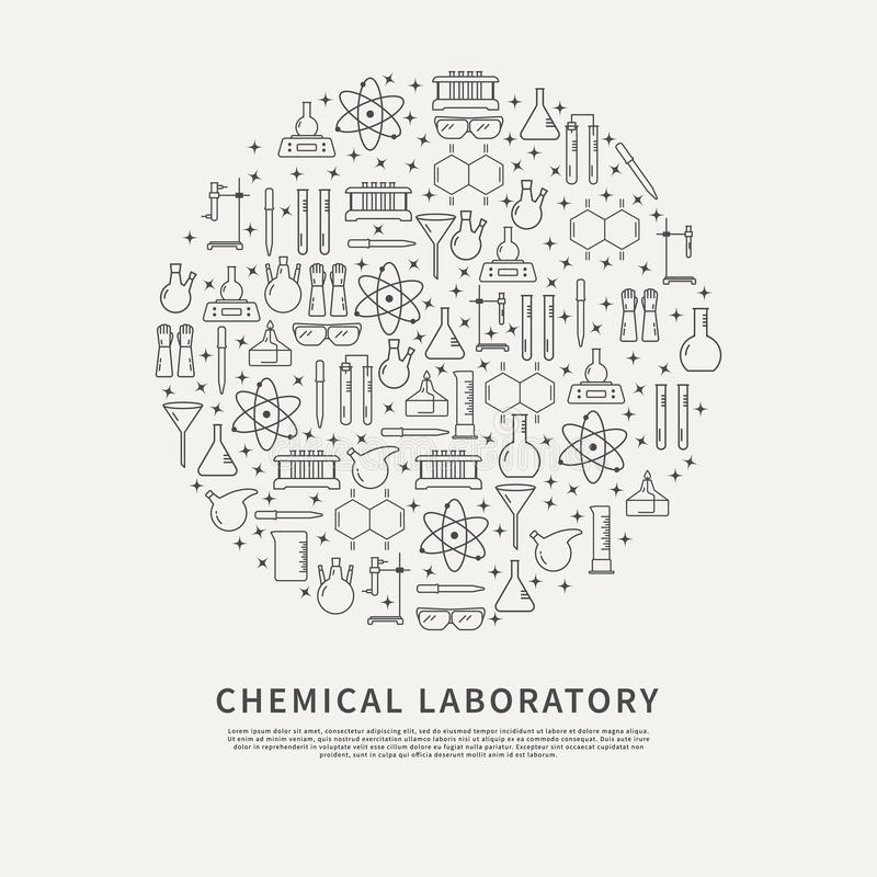 Circle Poster Chemical Lab. Stock Vector - Illustration of chemistry ...