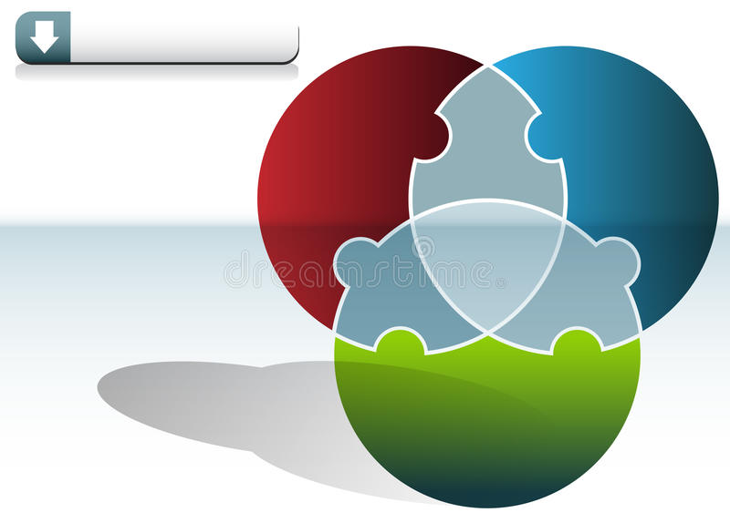 Circle Puzzle Chart. An image of a Circle Puzzle Chart vector illustration