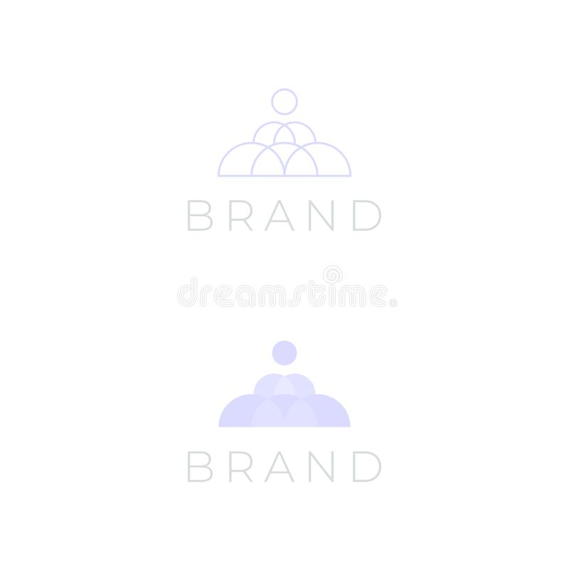 Circle pyramid logo for beauty and cosmetic. Vector multipurpose company logo design template. The logo can be used mainly for beauty and cosmetics products royalty free illustration