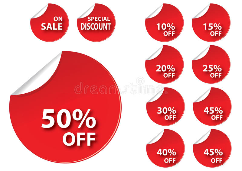 Circle red sale tag