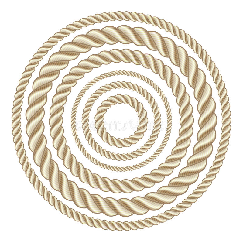 Circle ropes stock illustration