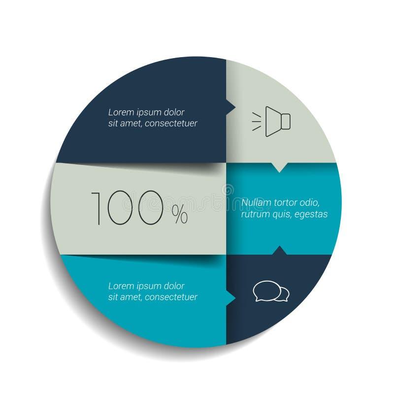 Circle, round schedule, tab, banner. vector illustration