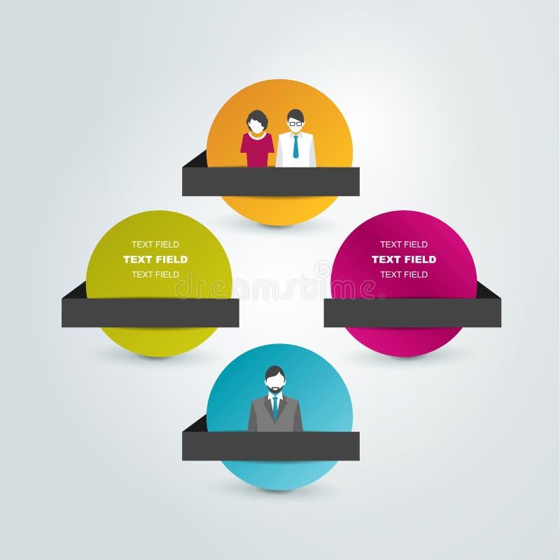 Circle scheme, chart. Infographics flowchart vector illustration