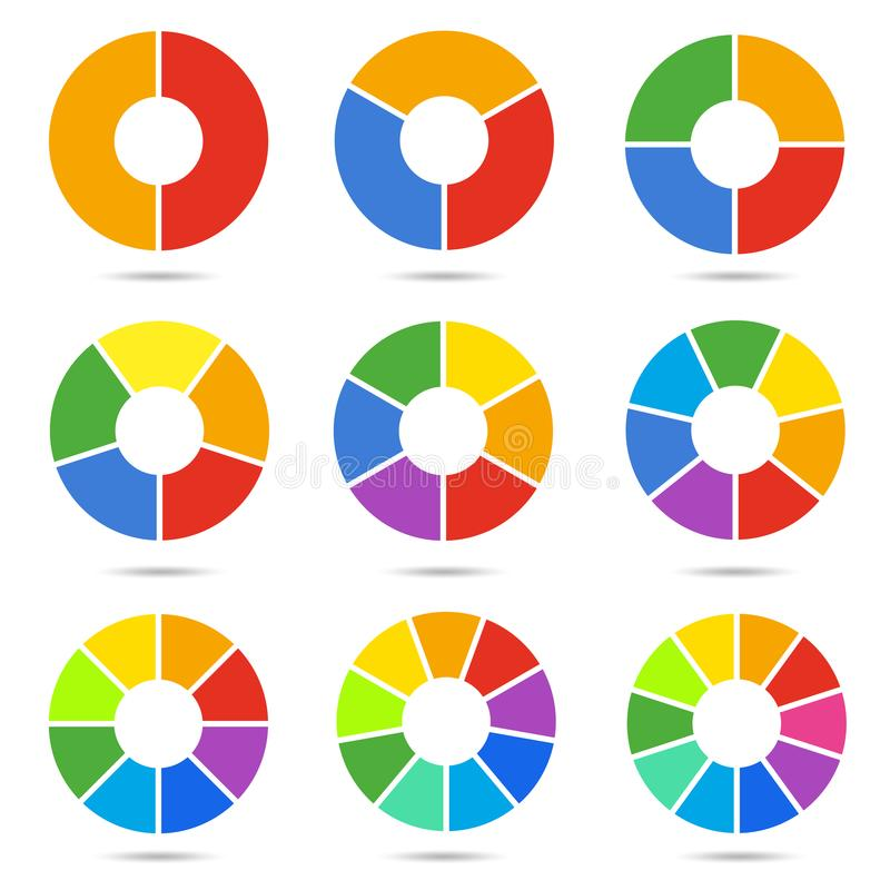 Free Circle Segments Set Royalty Free Stock Photography - 106921957