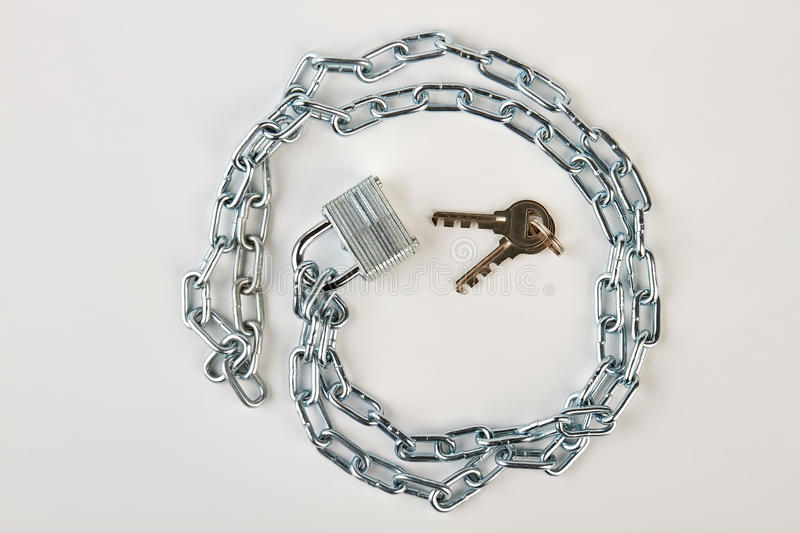Circle shape from chrome chain. royalty free stock photo
