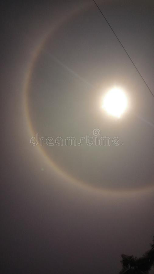 Circle shaped rainbow. Found in pabna bangladesh royalty free stock photography