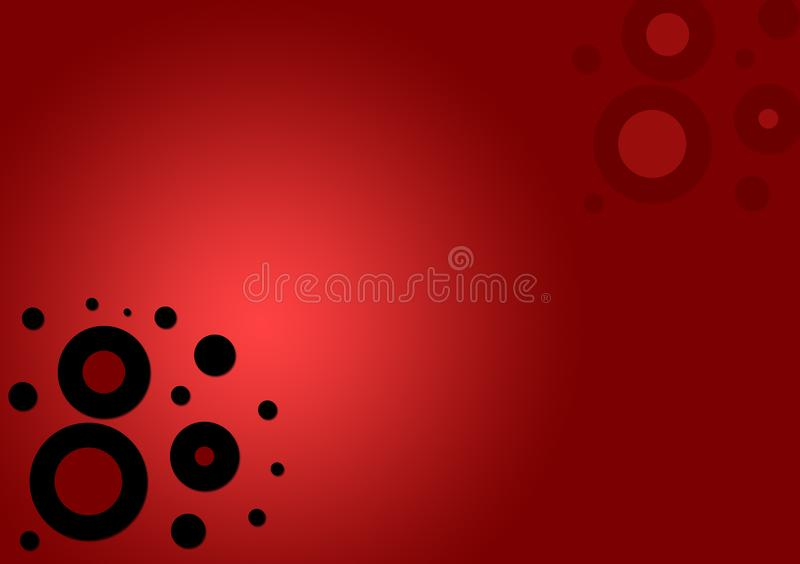 Circle shapes red textured background. For wallpaper use on web and digital devices stock illustration