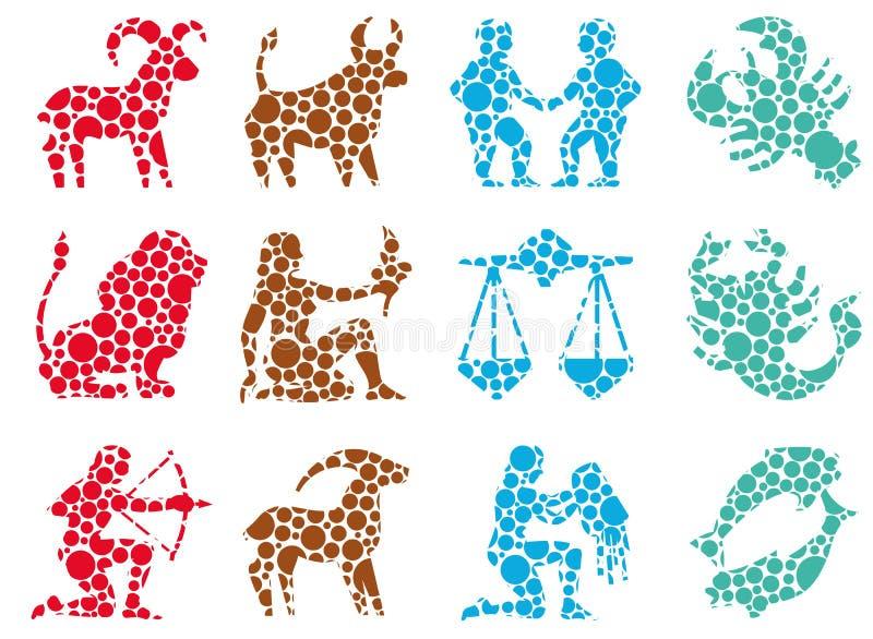 Circle sign zodiac stock illustration