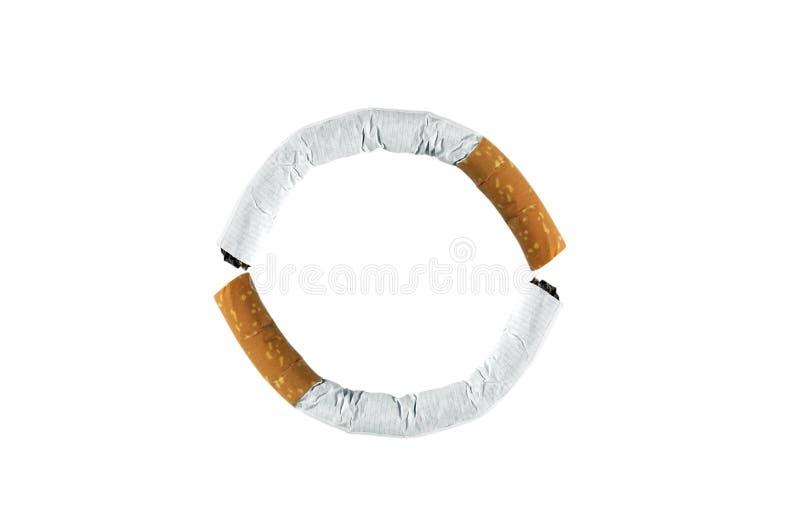 Circle smoking royalty free stock images