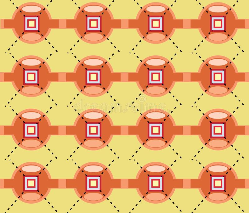 Circle squere point geometrical shape repetitive ethnic pattern. Circle squere point geometrical shape shape repetitive background pattern suitable for book royalty free illustration