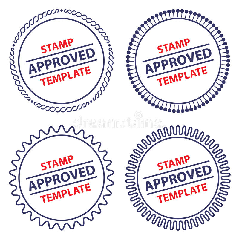Circle Stamp Template Stock Vector Illustration Of Agreement
