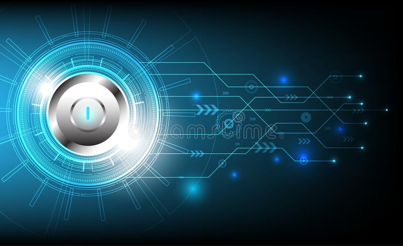 Circle technology with various technological and stop button design,vector illustration. vector illustration
