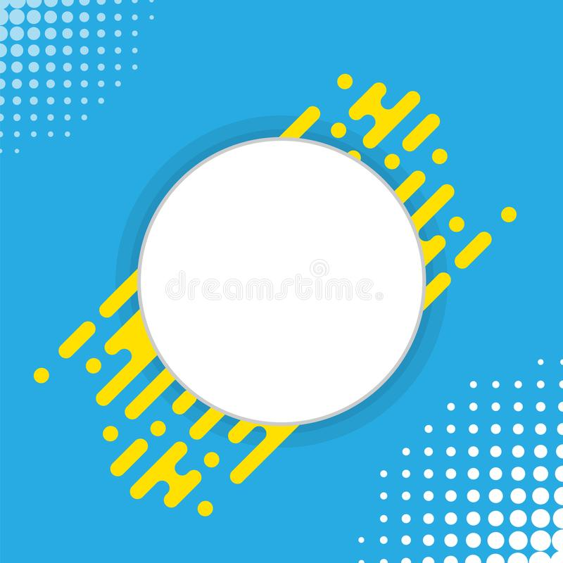 Circle for text background. Vector illustration. stock illustration