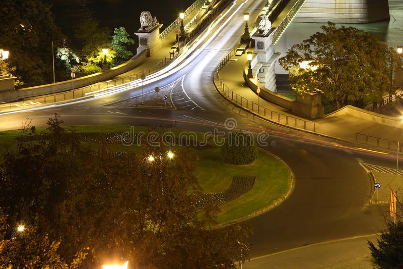 Download Circle traffic In Budapest stock photo. Image of hungary - 3433266