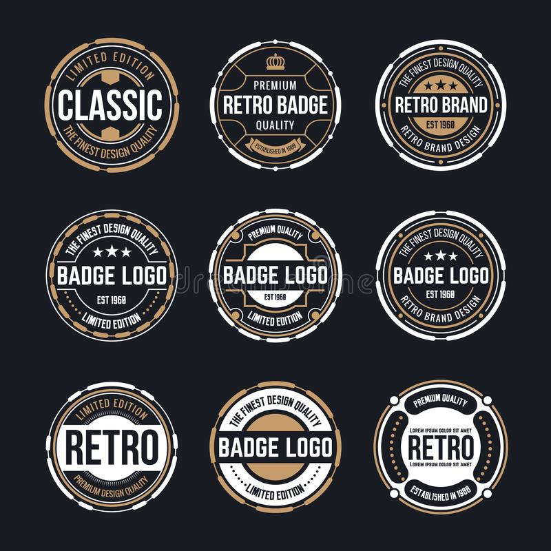 Download circle vintage and retro badge design collection stock vector illustration of sticker shop