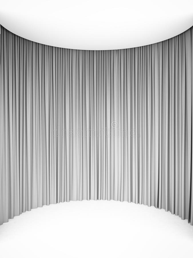 Circle white curtains royalty free illustration