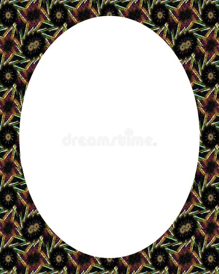 Circle White Frame Background with Decorated Borders royalty free illustration