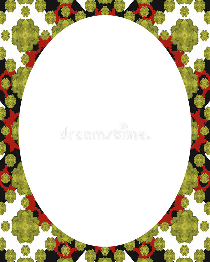 Circle White Frame Background with Decorated Borders stock illustration