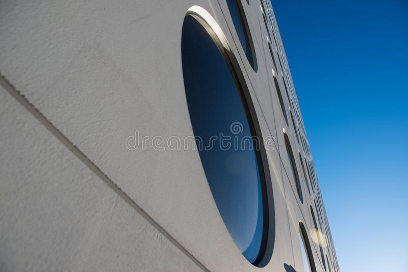 Circle windows stock image