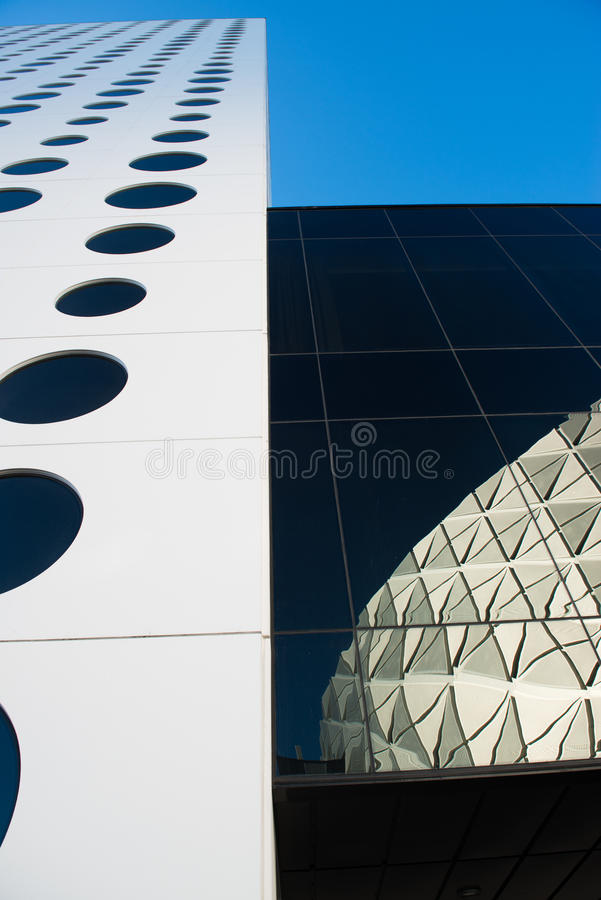 Circle windows, Skyscraper royalty free stock photography