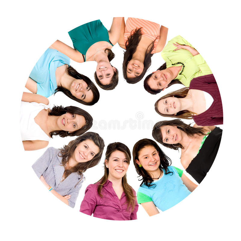 Download Circle of women stock photo. Image of portraits, females - 9833388