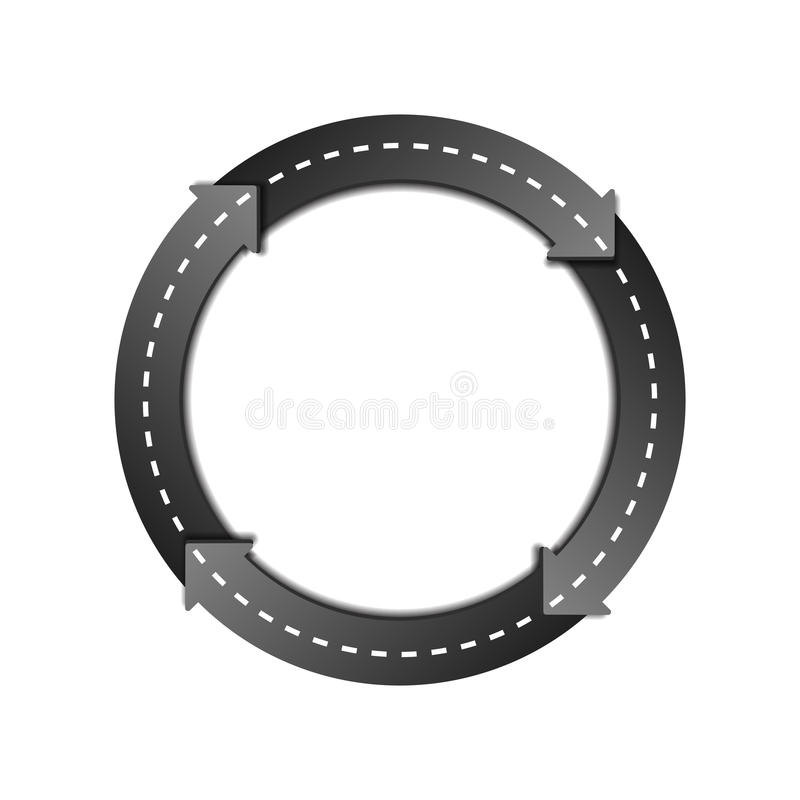 Circles Arrow Road. Design Template with Circles Arrow Road on white background. Symbol of trucking. Vector illustration stock illustration