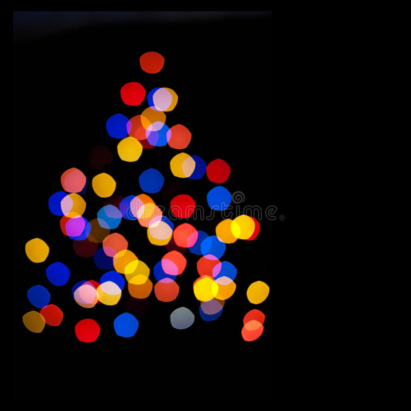 Circles Bokeh Of Christmaslight In The Form Of A C Stock Image