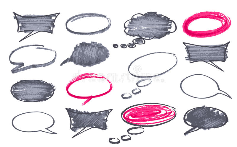 Circles and bubble speech royalty free illustration