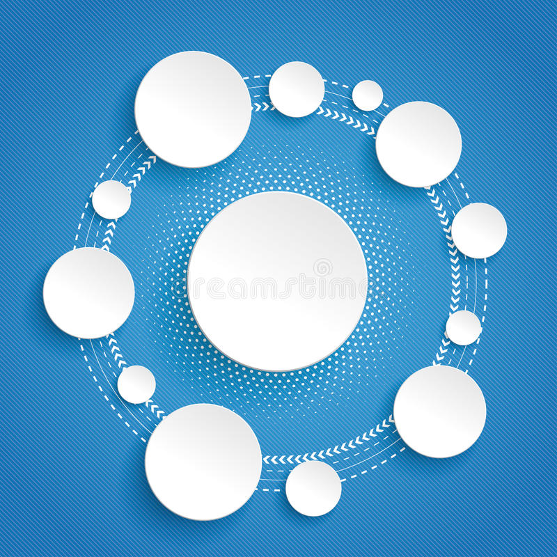 Circles Cycle Infographic Blue Background. Infographic design on the grey background vector illustration