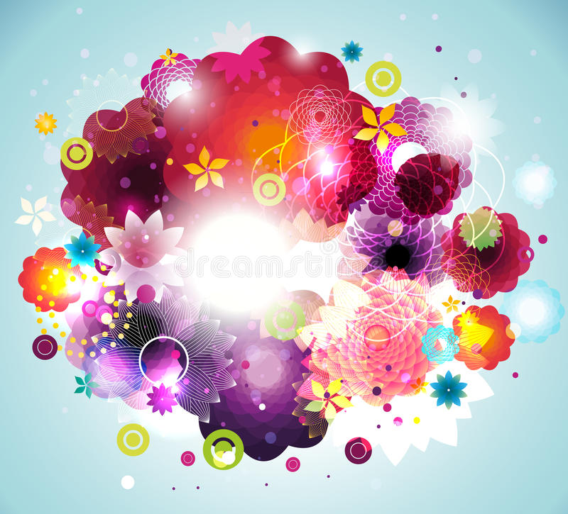 Download Circles and flowers stock illustration. Illustration of fresh - 20147721