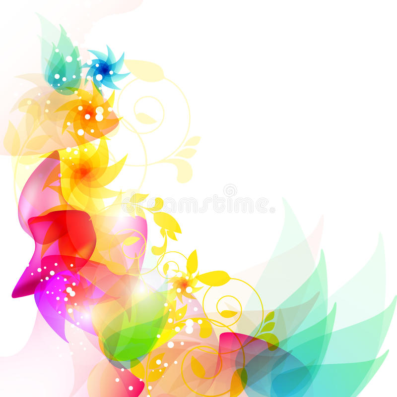 Circles and flowers. Summer nature design with circles and flowers royalty free illustration