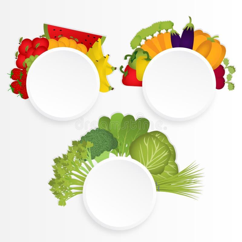 Circles groups food stock illustration