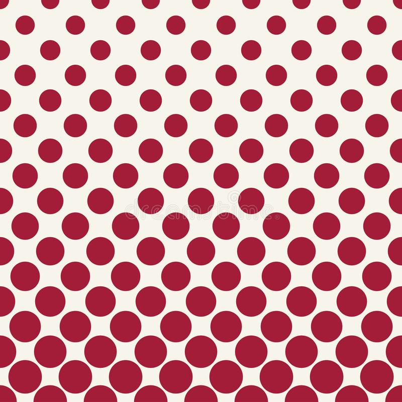Circles halftone seamless geometric gradient red pattern. Background vector illustration