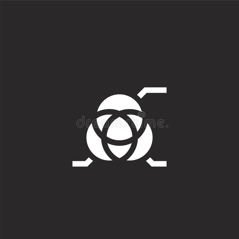 circles icon. Filled circles icon for website design and mobile, app development. circles icon from filled marketing collection royalty free illustration