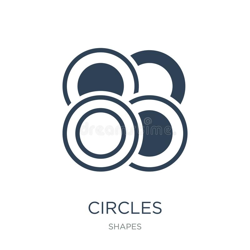 Circles icon in trendy design style. circles icon isolated on white background. circles vector icon simple and modern flat symbol. For web site, mobile, logo royalty free illustration