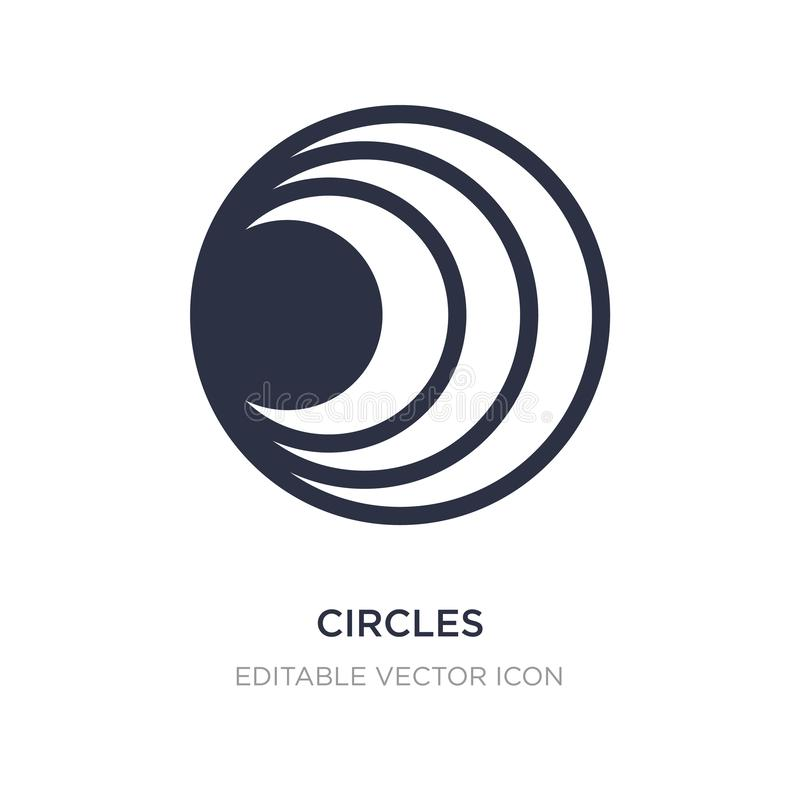 Circles icon on white background. Simple element illustration from Shapes concept. Circles icon symbol design stock illustration