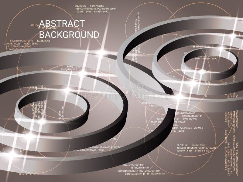 Circles metal sparkle on background. vector illustration